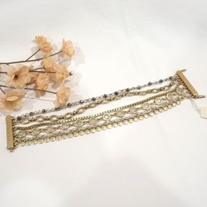 Lucky Brand Gold and Silver Tone Layer Bracelet